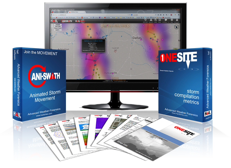 The best hail analysis tools in the industry come with every HailStrike subscription.