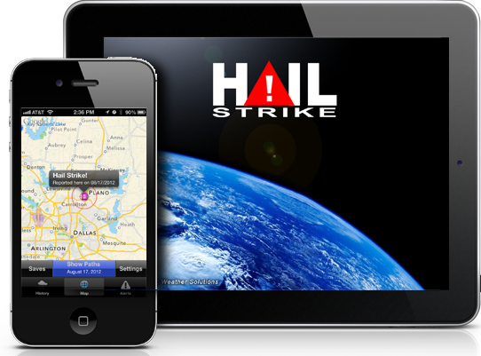 Hail tracking mobile app for iphone and ipad.